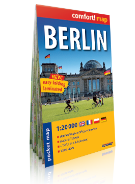 BERLIN KIESZONKOWY laminowany plan miasta 1:20 000 wersja niemiecka EXPRESS MAP