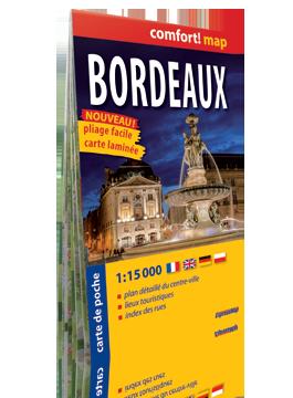 BORDEAUX KIESZONKOWY laminowany plan miasta 1:15 000 wersja francuska EXPRESSMAP