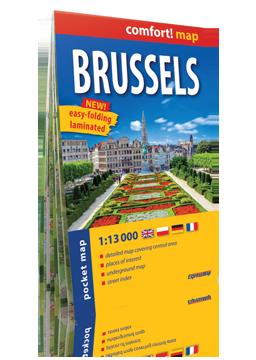 BRUKSELA BRUSSELS KIESZONKOWY laminowany plan miasta 1:13 000 wersja angielska EXPRESSMAP