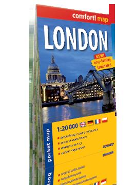 LONDYN LONDON KIESZONKOWY laminowany plan miasta 1:20 000 wersja angielska EXPRESSMAP