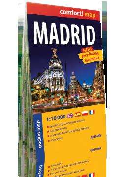MADRYT MADRID KIESZONKOWY laminowany plan miasta 1:10 000 wersja angielska EXPRESSMAP