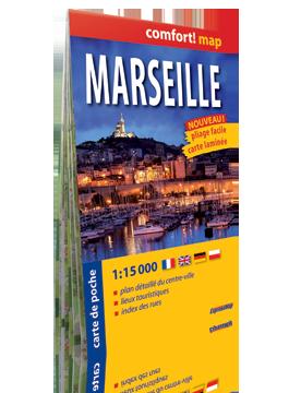 MARSYLIA MARSEILLE KIESZONKOWY laminowany plan miasta 1:15 000 wersja francuska EXPRESSMAP