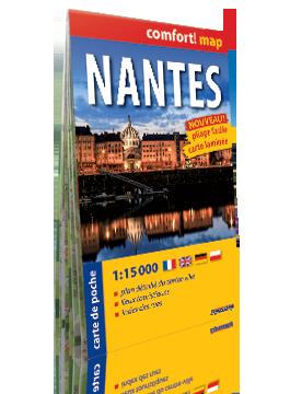 Nantes kieszonkowy laminowany plan miasta 1:15 000 wer. fran EXPRESSMAP