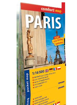 PARYŻ PARIS KIESZONKOWY laminowany plan miasta 1:16 500 wersja angielska EXPRESSMAP
