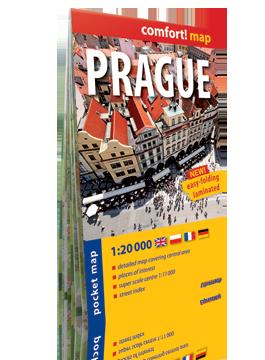 PRAGA PRAGUE KIESZONKOWY laminowany plan miasta 1:20 000 wersja angielska EXPRESSMAP