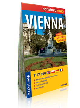 WIEDEŃ VIENNA KIESZONKOWY laminowany plan miasta 1:17 500 wersja angielska EXPRESSMAP