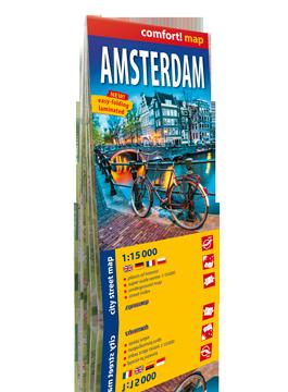 AMSTERDAM laminowany plan miasta 1:15 000 EXPRESSMAP