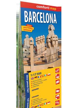 BARCELONA laminowany plan miasta 1:17 500 wersja angielska EXPRESSMAP