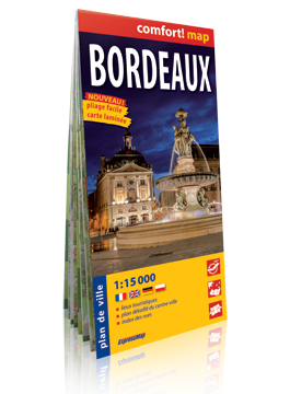 BORDEAUX laminowany plan miasta 1: 15 000 wer.fran EXPRESSMAP