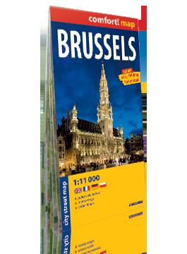 BRUKSELA laminowany plan miasta 1:11 000 wersja angielska  EXPRESSMAP