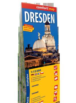 DREZNO laminowany plan miasta  1:15 000 wersja niemiecka EXPRESSMAP
