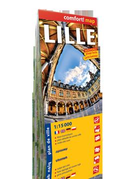 LILLE FRANCJA laminowany plan miasta 1:15 000 wersja francuska EXPRESSMAP