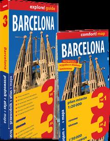 BARCELONA 3w1 (wydanie IV) przewodnik + atlas + mapa EXPRESSMAP