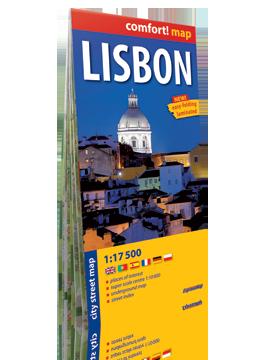 LIZBONA laminowany plan miasta 1:17 500 wersja angielska EXPRESSMAP 2016