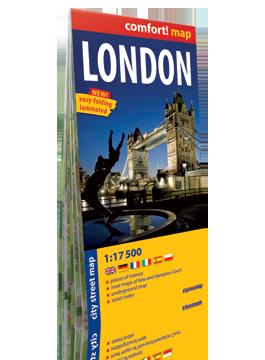 LONDYN laminowany plan miasta 1:17 500 wersja angielska EXPRESSMAP