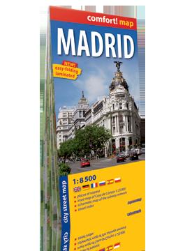 MADRYT laminowany plan miasta 1:8 500 wersja angielska EXPRESSMAP