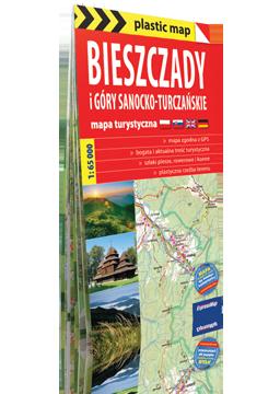 BIESZCZADY i Góry Sanocko-Turczańskie FOLIOWANA mapa turystyczna EXPRESSMAP 2016