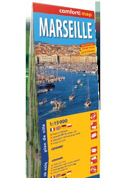 Marsylia laminowany plan miasta 1:15 000 wersja francuska EXPRESSMAP