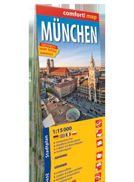 Monachium laminowany plan miasta  1:15 000 wersja niemiecka EXPRESSMAP