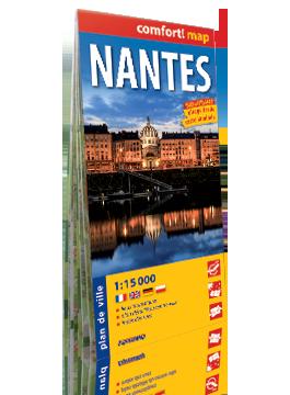 NANTES laminowany plan miasta  1:15 000 wersja francuska EXPRESSMAP
