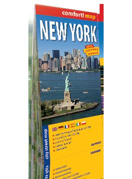 NOWY JORK laminowany plan miasta 1:15 000/1:75 000 wersja angielska EXPRESSMAP