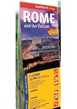 Rzym i Watykan laminowany plan miasta 1:15 000 wersja angielska EXPRESSMAP