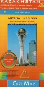 KAZACHSTAN ASTANA mapa 1:3 000 000 GIZIMAP