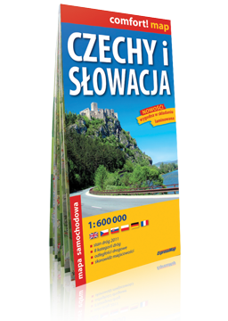 Czechy i Słowacja laminowana mapa samochodowa 1:600 000 EXPRESSMAP