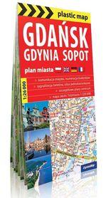TRÓJMIASTO GDAŃSK GDYNIA SOPOT foliowany plan miasta EXPRESSMAP