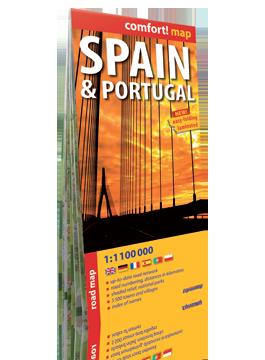 Hiszpania i Portugalia laminowana mapa samochodowa 1:1 100 000 wersja angielska  EXPRESSMAP
