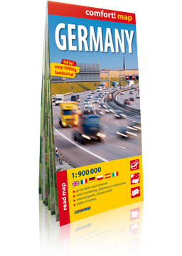 Germany laminowana mapa samochodowa 1:900 000 wer.ang EXPRESSMAP