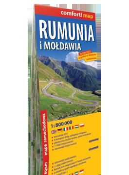 Rumunia i Mołdawia laminowana mapa samochodowa 1:800 000 EXPRESSMAP