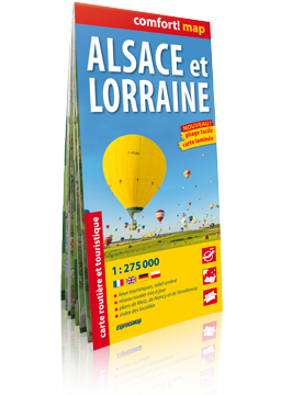 ALZACJA I LOTARYNGIA (Alsace et Lorraine) laminowana mapa samochodowo-turystyczna 1:275 000 wer.fran EXPRESSMAP