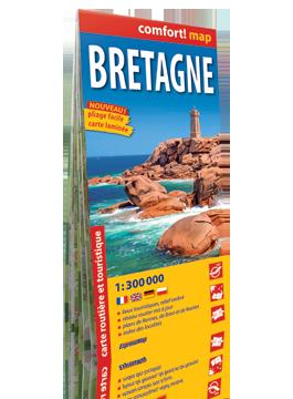 Bretania laminowana mapa samochodowo-turystyczna 1:300 000 wer.fran EXPRESSMAP