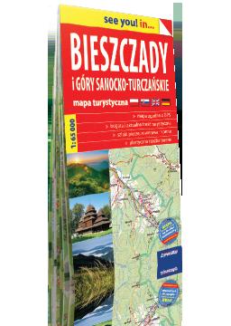 BIESZCZADY i Góry Sanocko-Turczańskie papierowa mapa turystyczna EXPRESSMAP