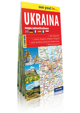 UKRAINA papierowa mapa samochodowa 1:1 000 000 EXPRESSMAP