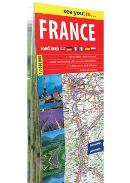 FRANCJA papierowa mapa samochodowa ver. Angielska EXPRESSMAP