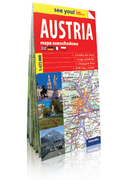 AUSTRIA papierowa mapa samochodowa ver. Angielska EXPRESSMAP