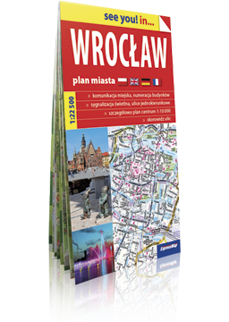 WROCŁAW papierowy plan miasta 1:22 500 EXPRESSMAP 2016