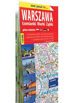 WARSZAWA Łomianki Marki Ząbki papierowy plan miasta 1:26 000 EXPRESSMAP