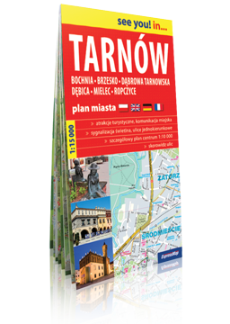TARNÓW Bochnia Brzesko Dąbrowa Tarnowska Dębica Mielec Ropczyce papierowy plan miasta EXPRESSMAP