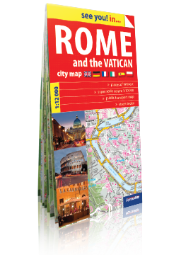 RZYM I WATYKAN Rome and the Vatican papierowy plan miasta ver. Angielska EXPRESSMAP