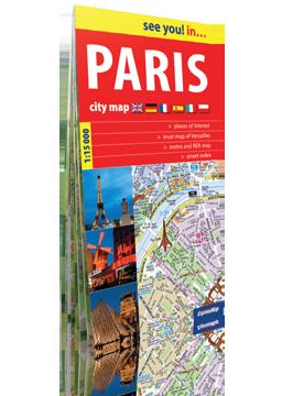 PARYŻ PARIS papierowy plan miasta 1:15 000 ver. Angielska EXPRESSMAP