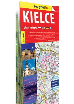 KIELCE papierowy plan miasta EXPRESSMAP