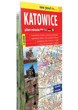 KATOWICE papierowy plan miasta 1:20 000 EXPRESSMAP 2016