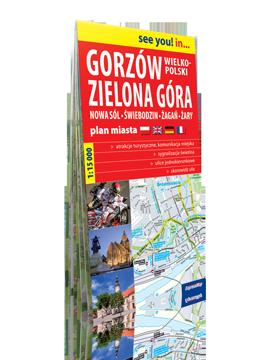 GORZÓW WIELKOPOLSKI ZIELONA GÓRA Nowa Sól Świebodzin Żagań Żary papierowy plan miasta EXPRESSMAP