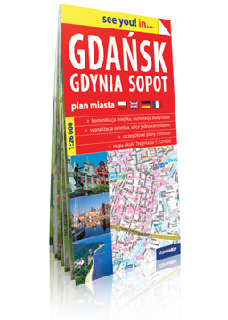 TRÓJMIASTO GDAŃSK GDYNIA SOPOT papierowy plan miasta EXPRESSMAP 2016