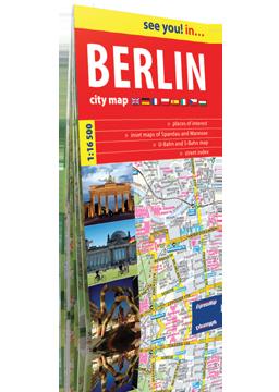 BERLIN papierowy plan miasta 1:16 500 wersja angielska EXPRESSMAP