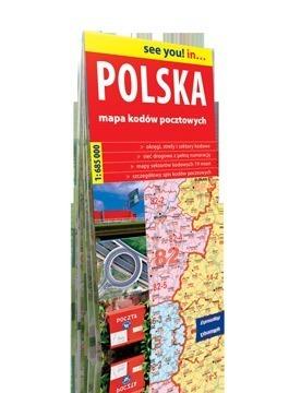 Polska. Mapa kodów pocztowych mapa papierowa EXPRESSMAP