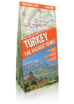 TURCJA Najwyższe szczyty Góry Ararat, Kaçkar i Süphan laminowana mapa trekkingowa terraQuest EXPRESSMAP
